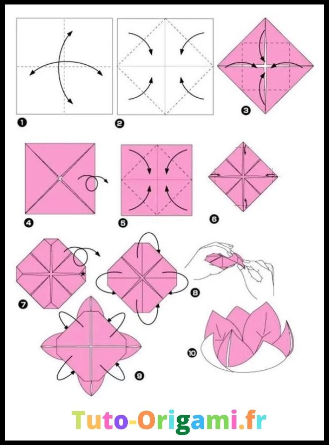 Tutoriel pour faire une Fleur de Lotus en origami