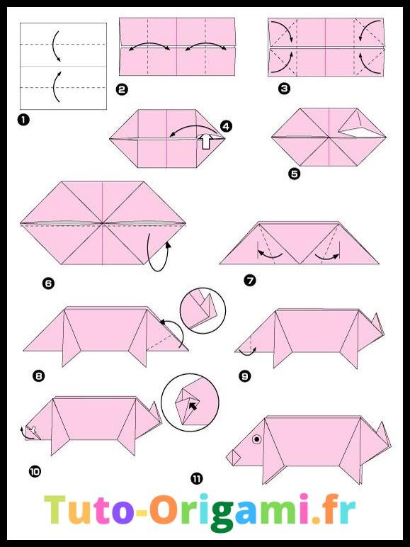Tutoriel Cochon En Origami Facile