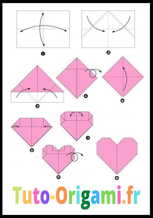 Tutoriel Facile pour faire un cœur en origami