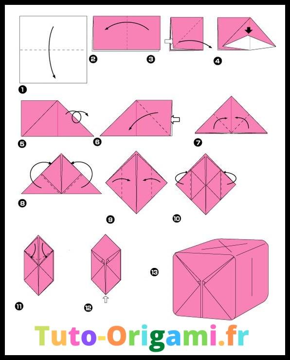 Tutoriel Cube en origami niveau moyen