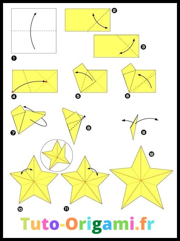 étoile en origami tutoriel facile