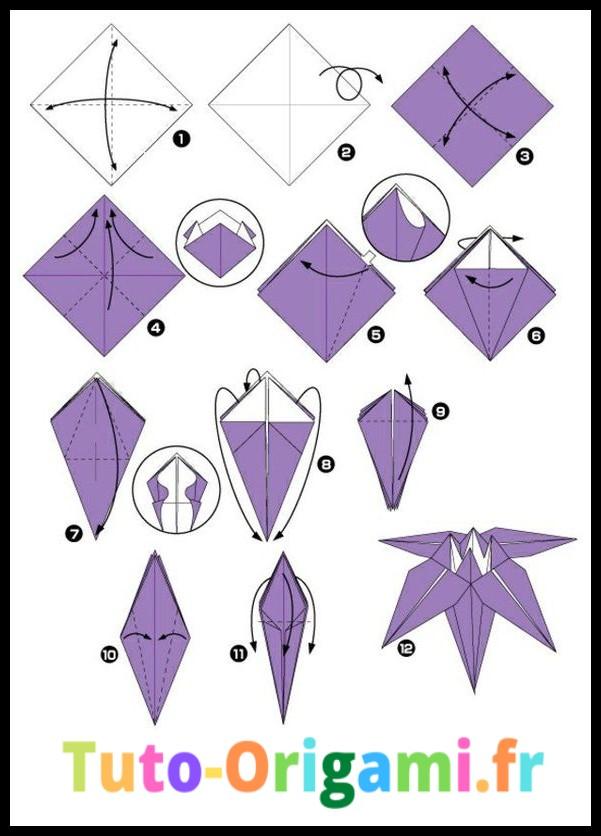Fleur de lys en origami tutoriel