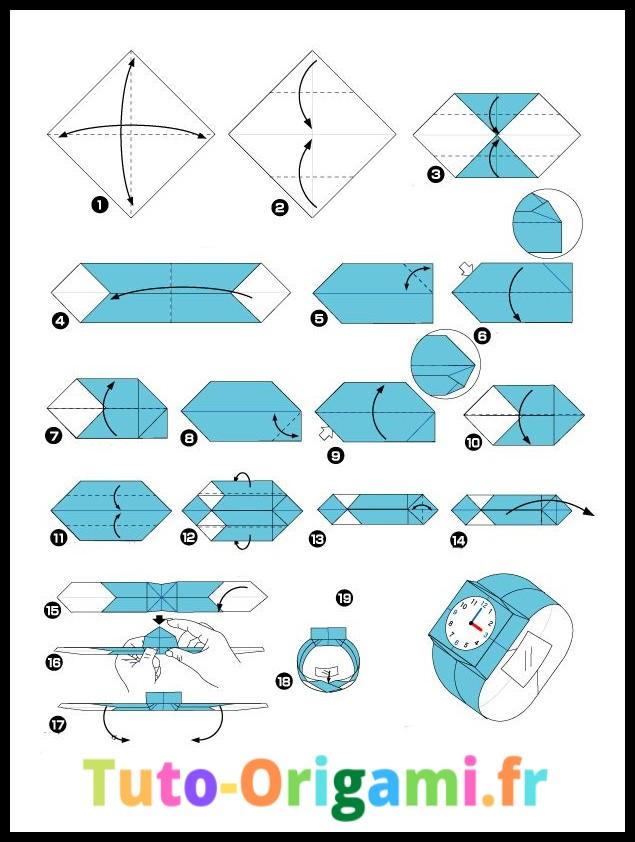 Tutoriel pour faire une montre en origami