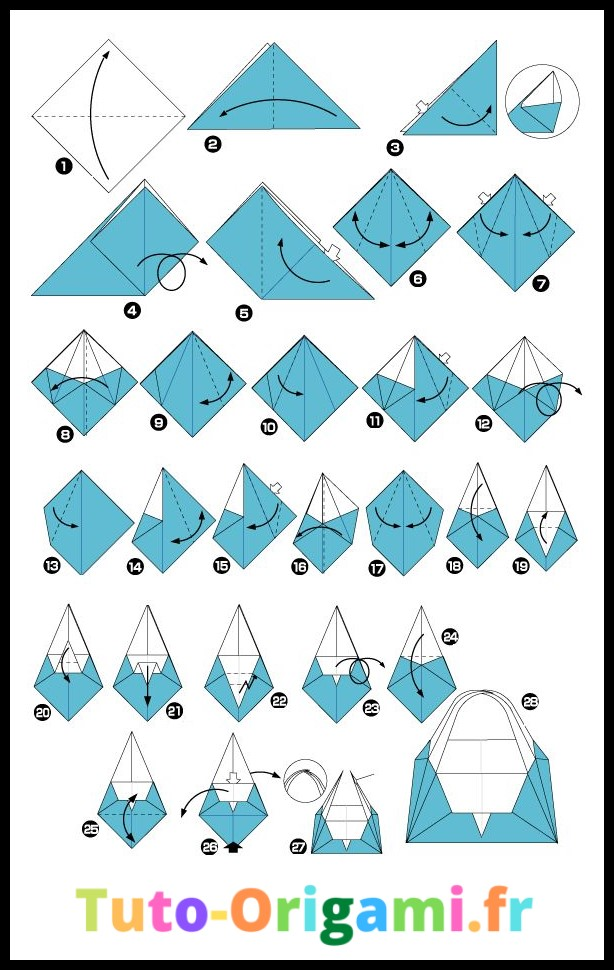 Tutoriel pour faire un panier en origami