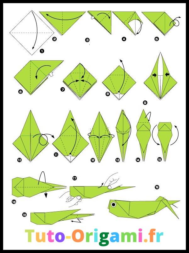 tutoriel sauterelle en origami niveau moyen