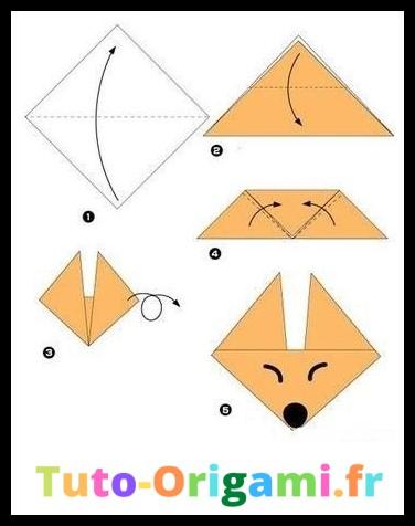 Tutoriel Tête de renard en origami niveau débutant
