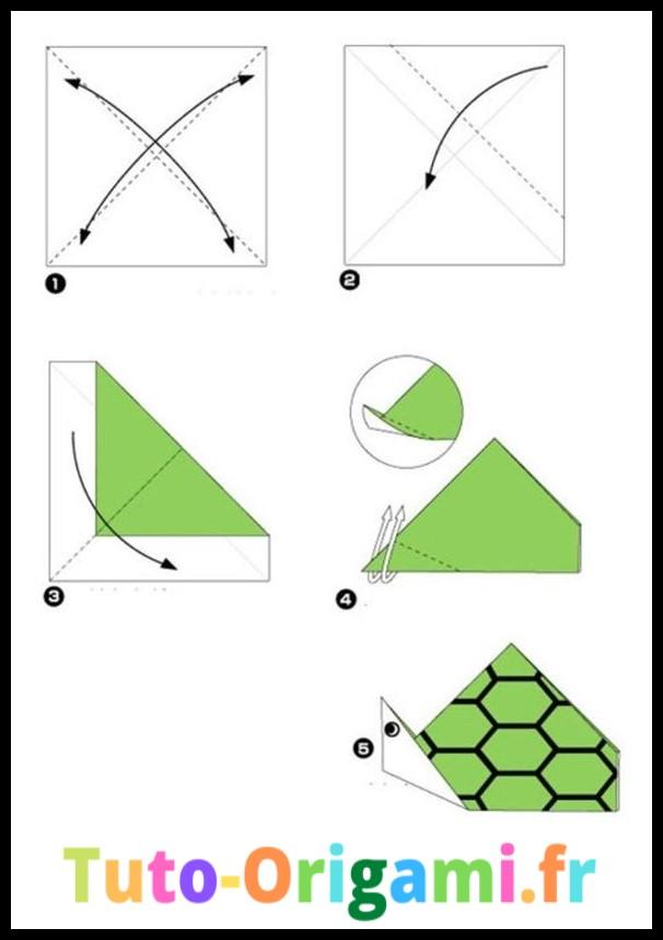 Tutoriel pour faire une tortue en origami facilement et simplement