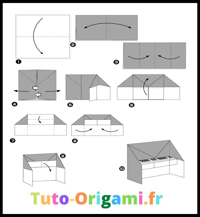 Tutoriel Facile Pour Faire Un Piano En Origami