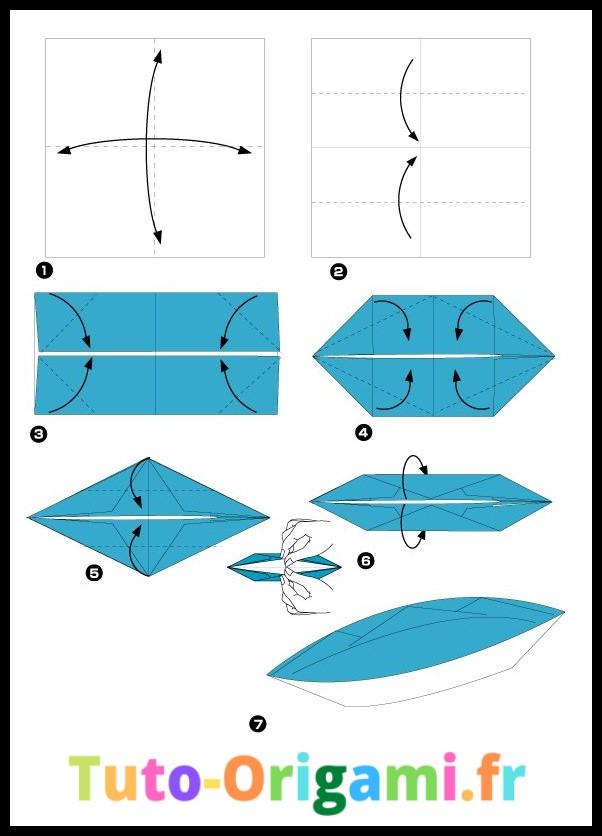 Tutoriel pour faire une barque en origami